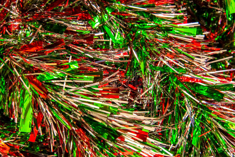 Festão das decorações, do vermelho, a de prata e a verde do Natal imagem de stock royalty free