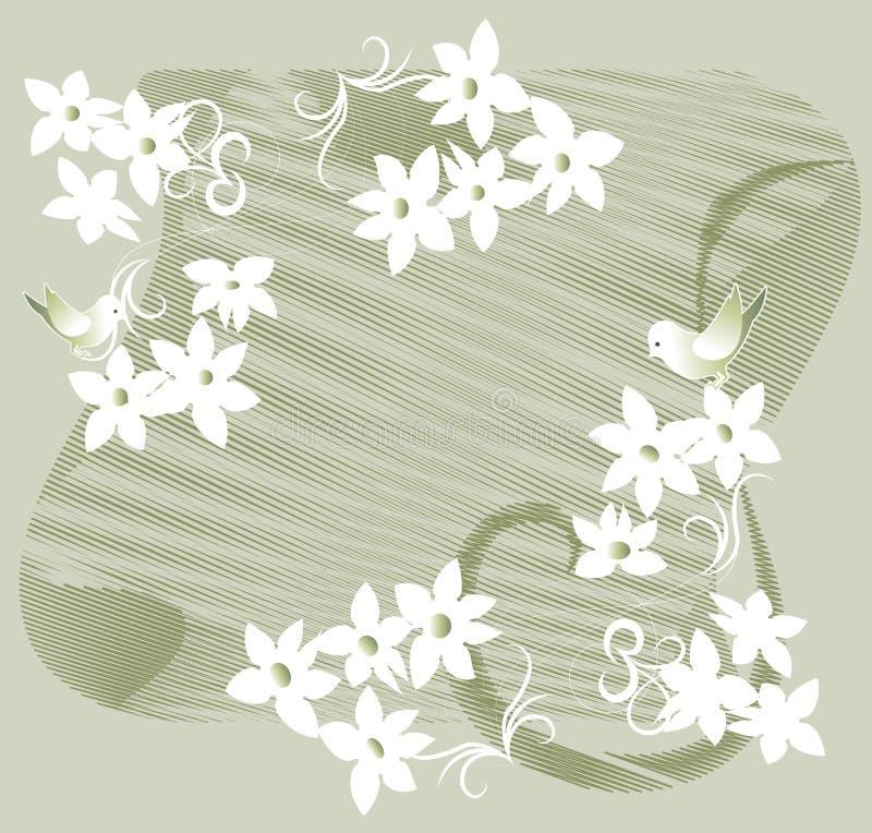 Festão das flores brancas ilustração royalty free