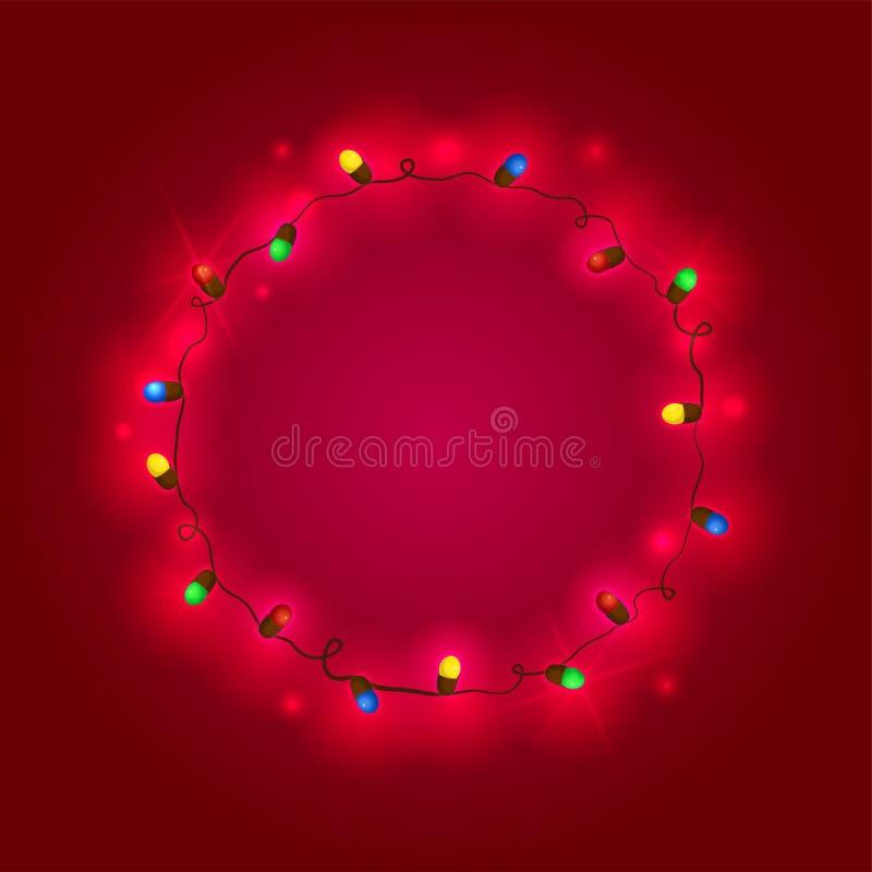 Festão do Natal, ilustração do vetor ilustração royalty free