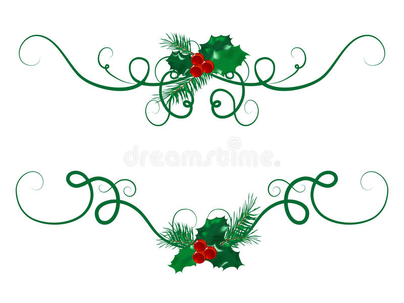 Festões do Natal ilustração royalty free