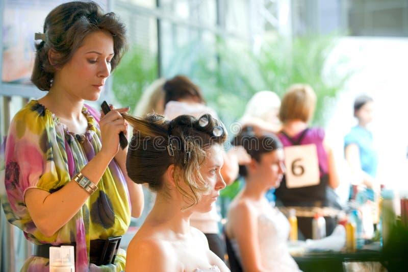 fest стрижка волос делает встречу вверх стоковое изображение
