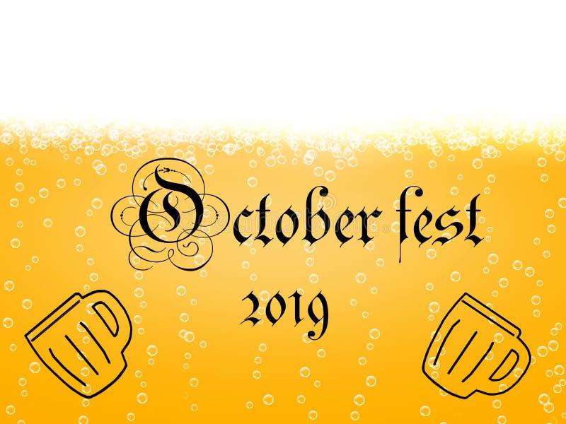 Fest 2019 d'octobre illustration libre de droits