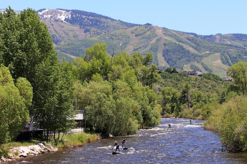 Fest de rivière de Yampa, Steamboat Springs, le Colorado photographie stock