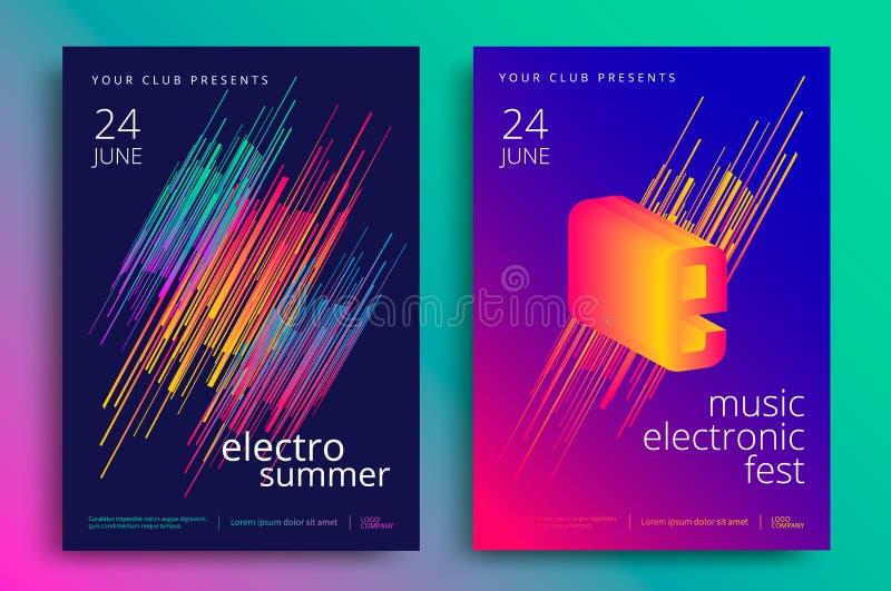 Fest för elektronisk musik stock illustrationer