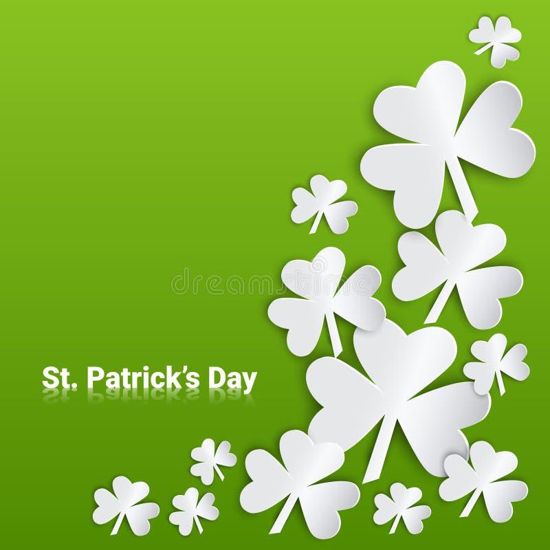 Fest feliz del cartel de Patrick Day Festival Beer Holiday stock de ilustración