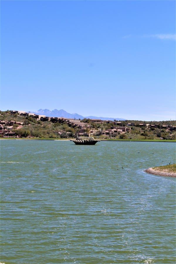 Fest irlandés 2019, colinas de la fuente, el condado de Maricopa, Arizona de la fuente en los Estados Unidos imagenes de archivo