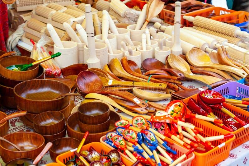 Fest von Ren Hirten und fishermans Messe von traditionellen Haushaltsartikeln lizenzfreie stockfotografie