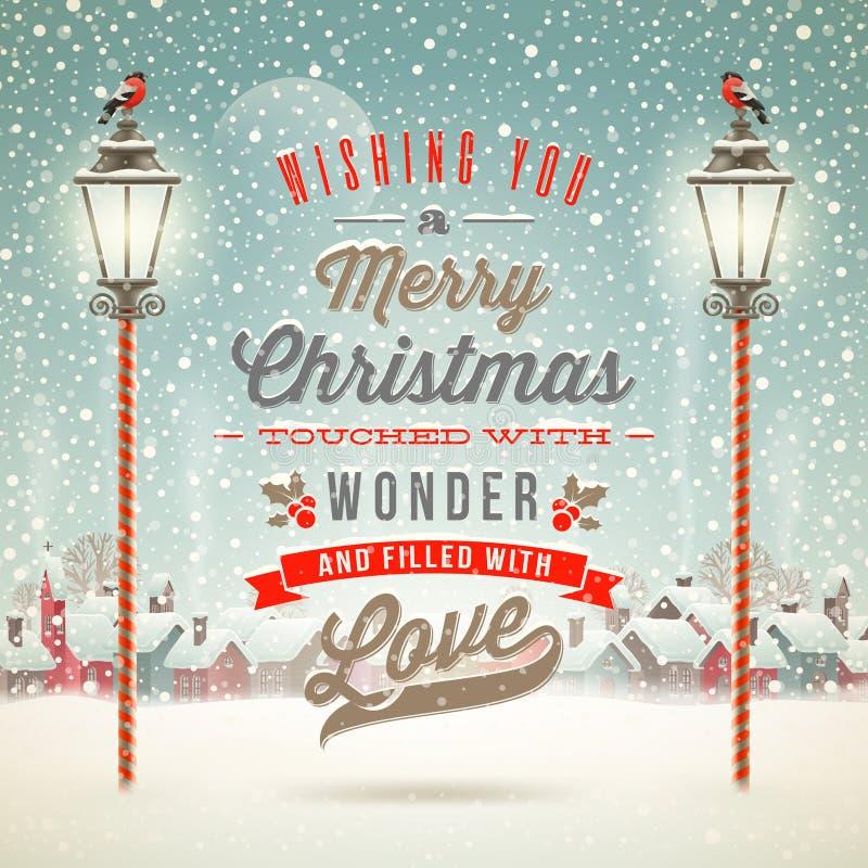 Fest von Weihnachten stock abbildung
