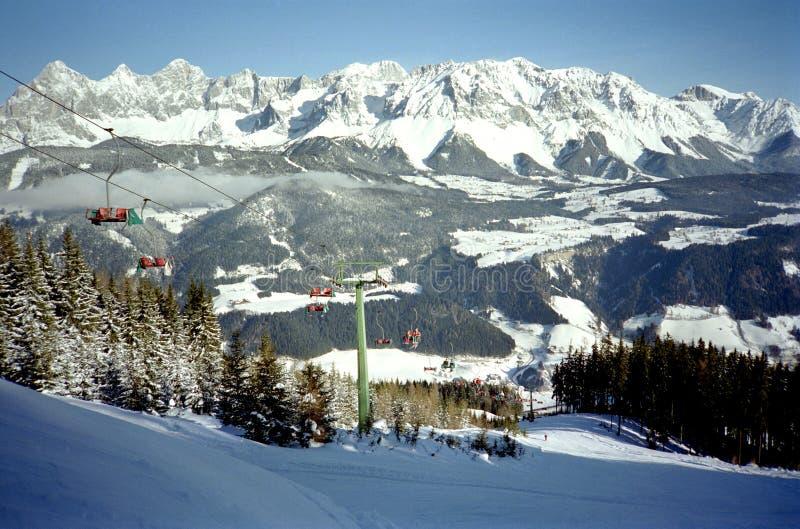 Festa alpina del pattino fotografie stock libere da diritti