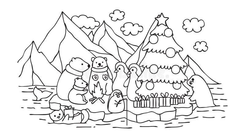 Festa de Natal de Alasca ilustração do vetor