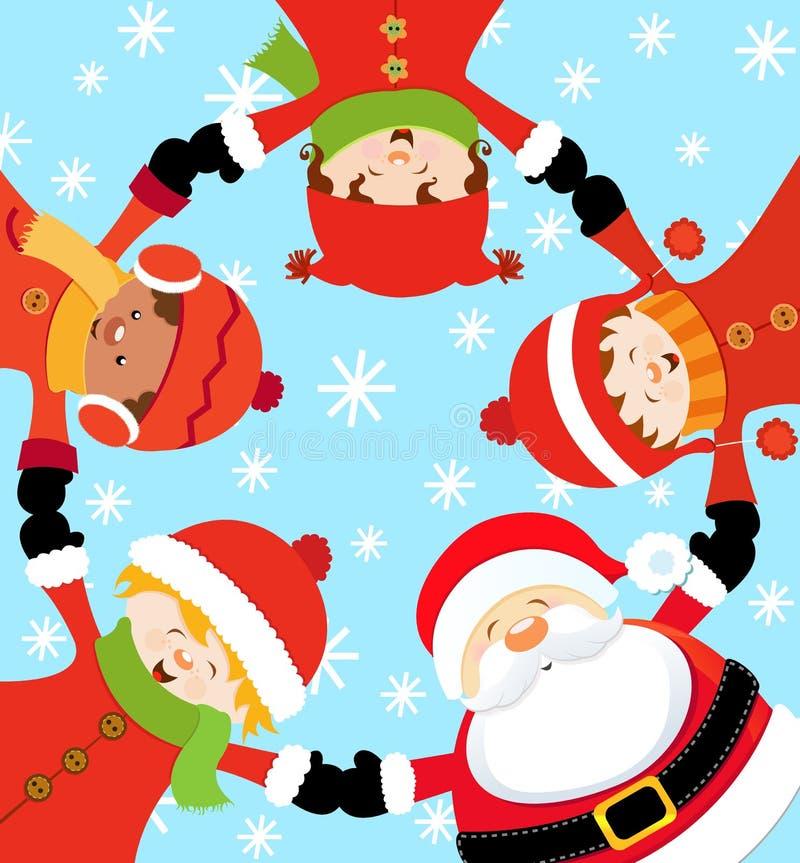 Festa de Natal de Santa ilustração stock