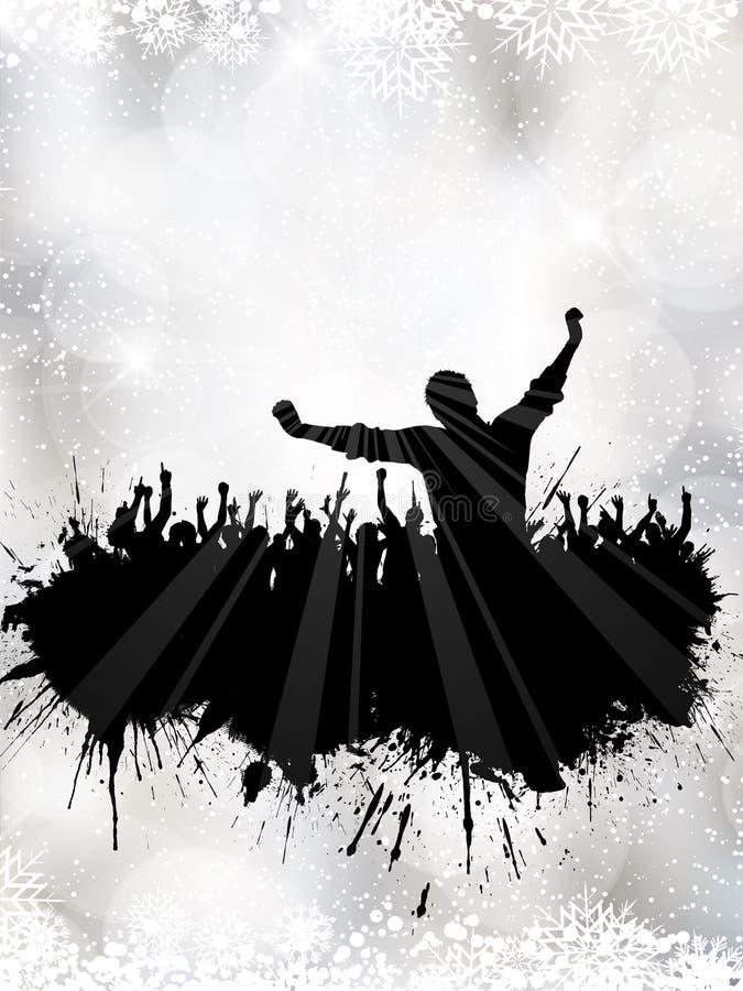 Festa de Natal do Grunge ilustração royalty free