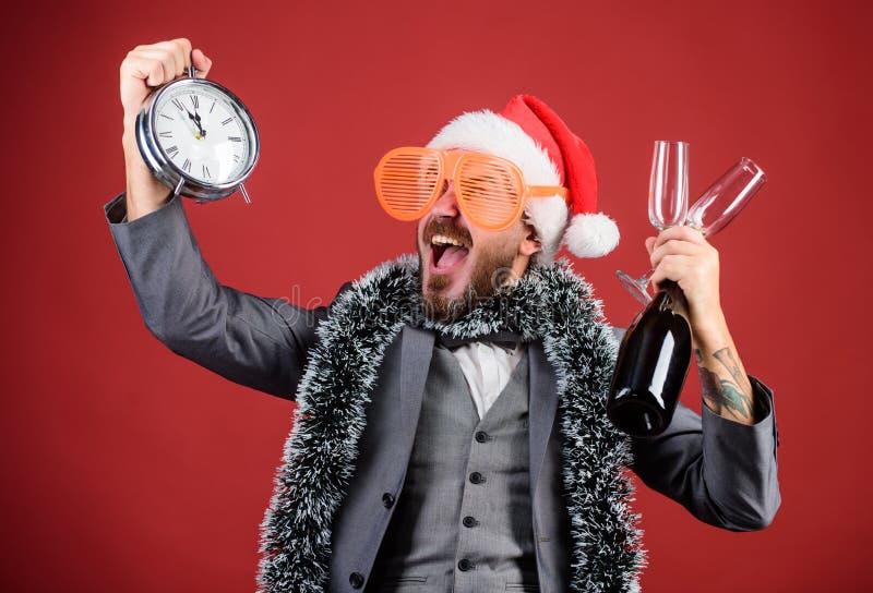 Festa de Natal incorporada Lets comemora o feriado de inverno Chapéu de Santa do chefe para comemorar o ano novo ou o Natal Natal imagem de stock