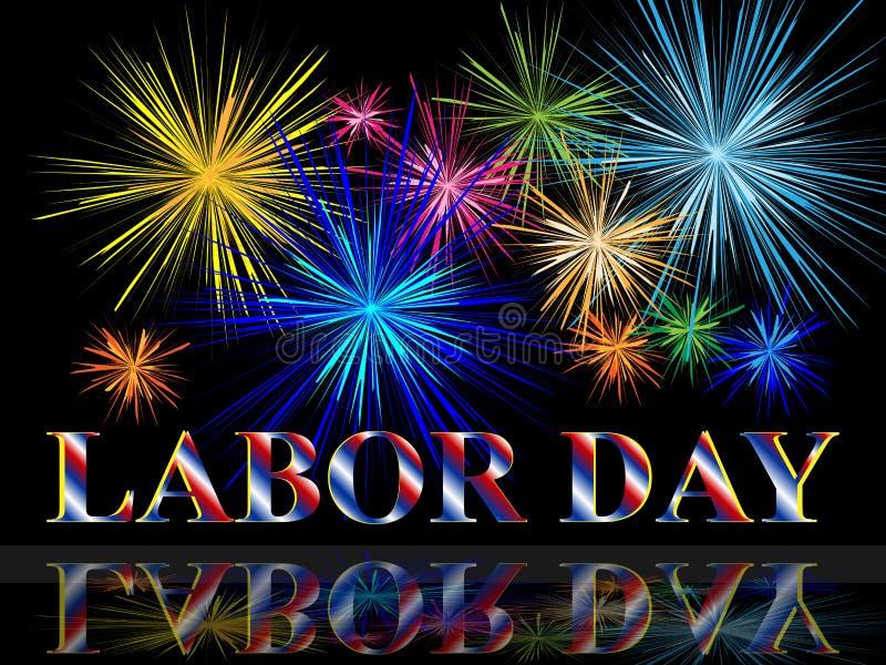 Festa del Lavoro con i fuochi d'artificio royalty illustrazione gratis
