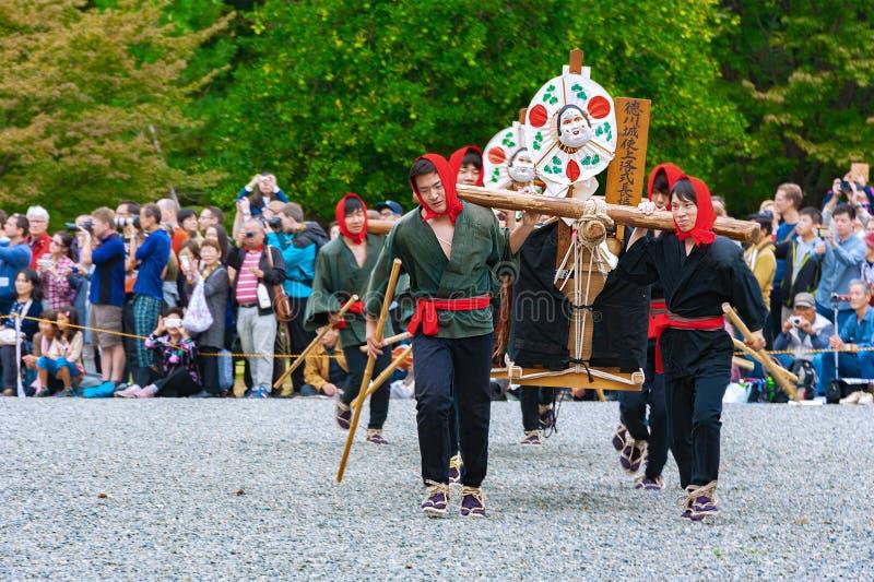 Festa del Medioevo, Giappone, antica e autentica parata costiera fotografie stock libere da diritti