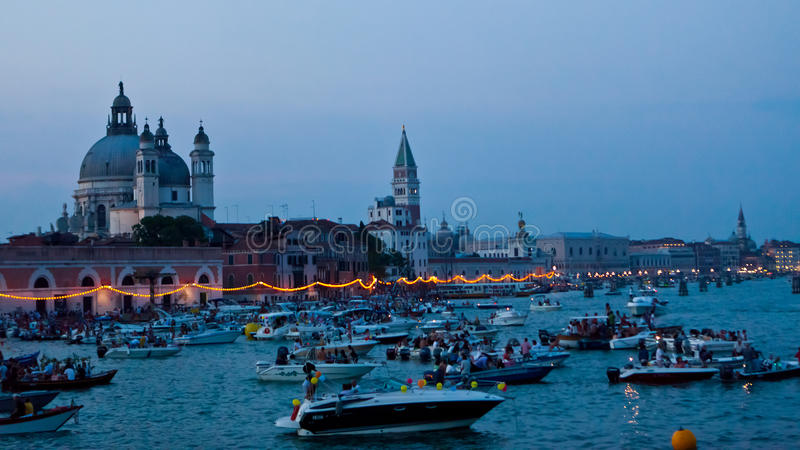Festa Del Redentore w Wenecja zdjęcie stock