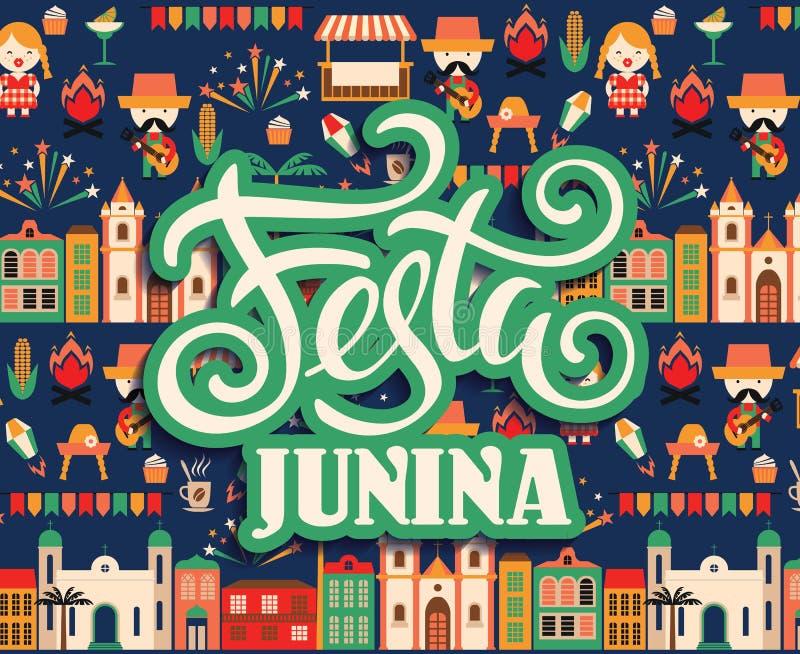 Festa dell'America latina, il partito di giugno del Brasile illustrazione vettoriale