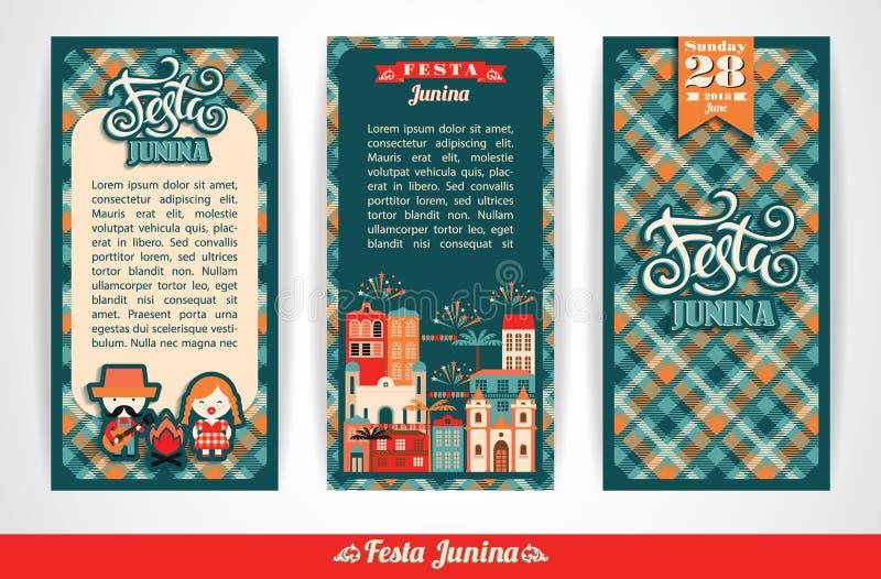 Festa dell'America latina, il partito di giugno del Brasile illustrazione di stock