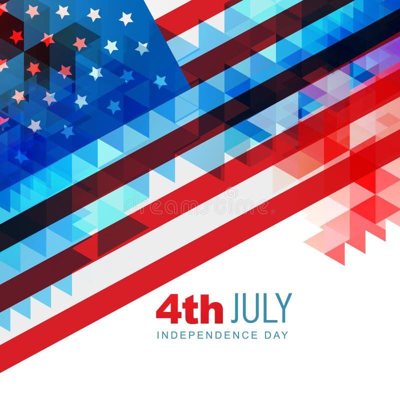 Festa dell'indipendenza americana illustrazione di stock