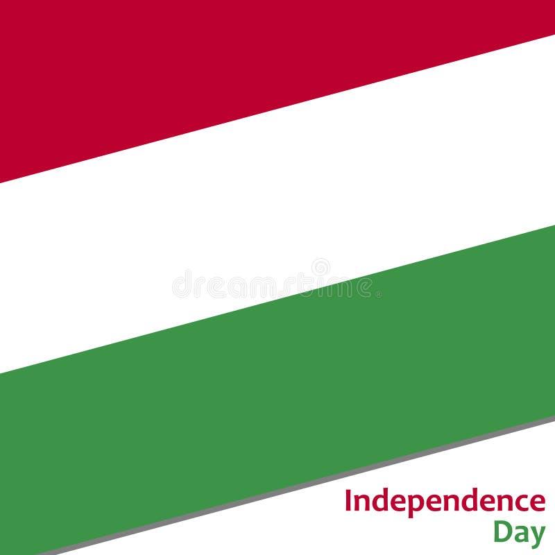 Festa dell'indipendenza dell'Ungheria illustrazione di stock