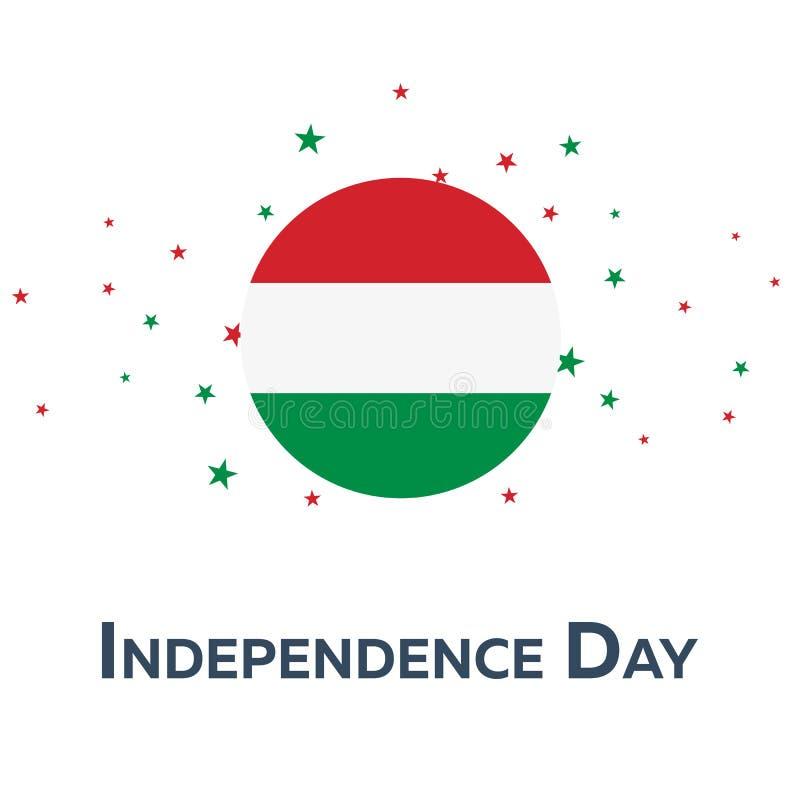 Festa dell'indipendenza dell'Ungheria Bandiera patriottica Illustrazione di vettore illustrazione di stock
