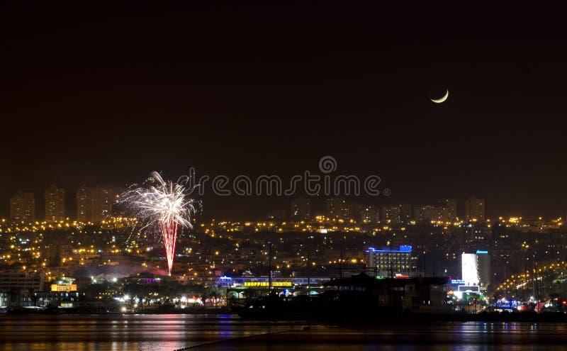Festa dell'indipendenza in Eilat, Israele immagine stock