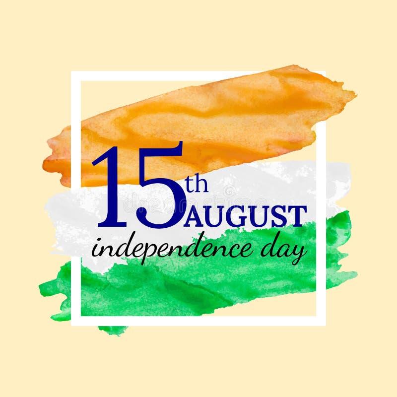 Festa dell'indipendenza felice quindicesima fotografia stock