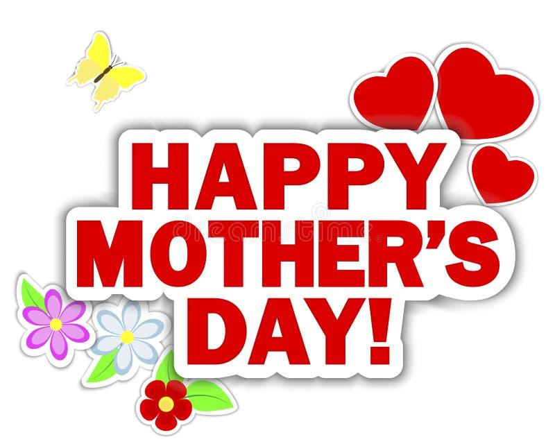 Festa della Mamma degli autoadesivi. illustrazione vettoriale