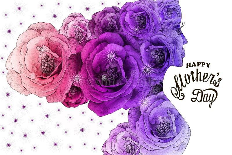 Festa della mamma felice - carta immagine stock libera da diritti