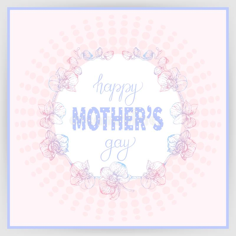Festa della mamma felice 3 illustrazione vettoriale