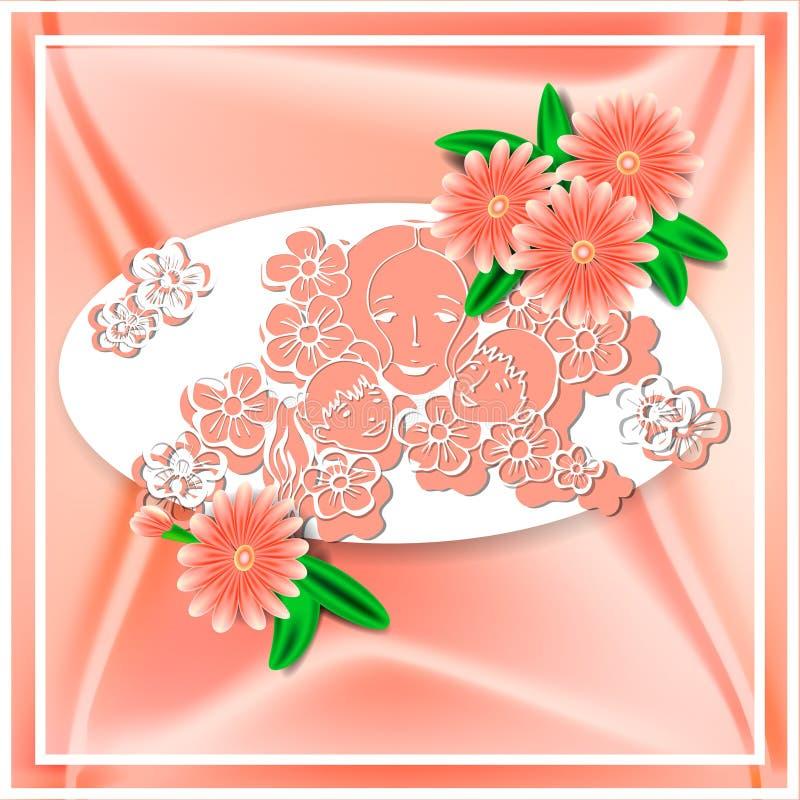 Festa della mamma felice 20 illustrazione di stock