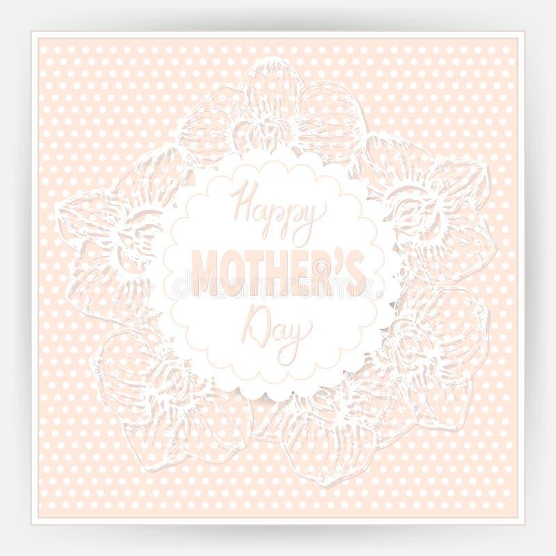 Festa della mamma felice 10 illustrazione di stock