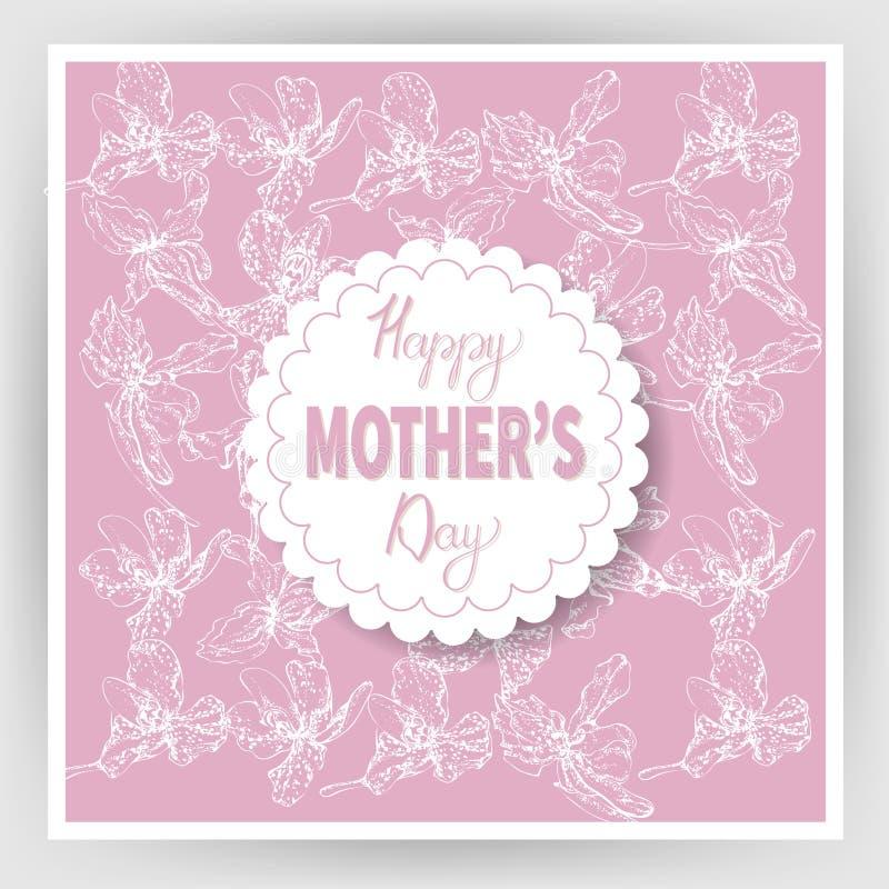 Festa della mamma felice 13 illustrazione vettoriale