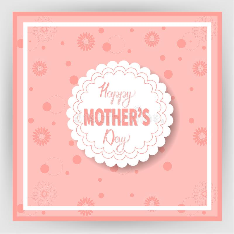 Festa della mamma felice 17 illustrazione vettoriale