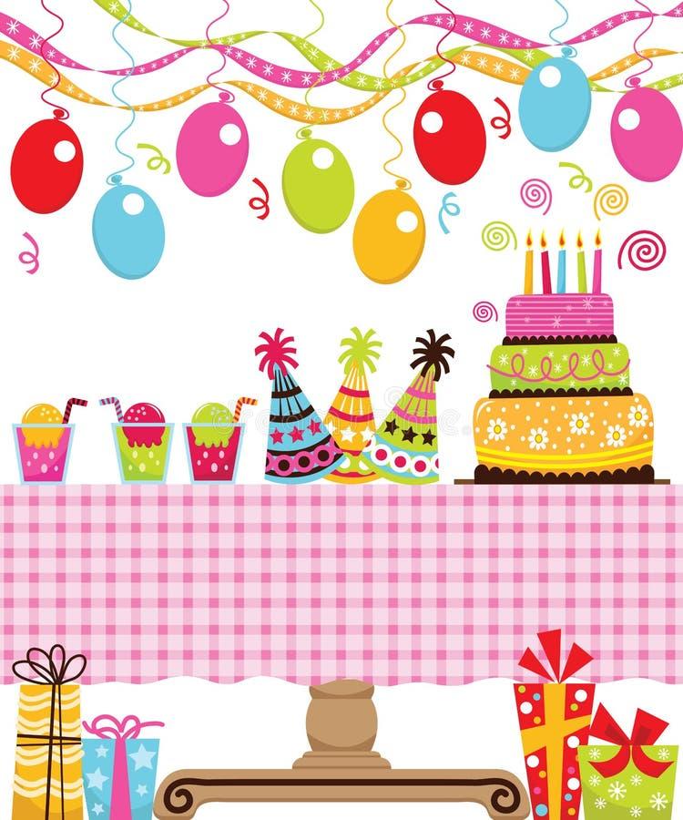 Festa di compleanno illustrazione di stock