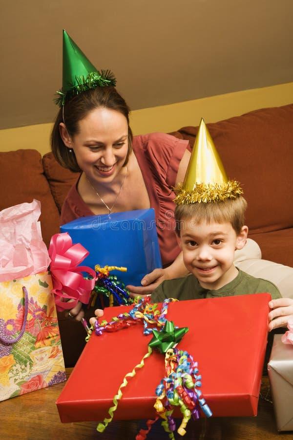 Festa di compleanno della famiglia. fotografie stock libere da diritti