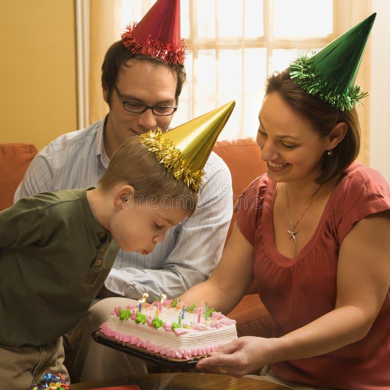 Festa di compleanno della famiglia. immagine stock libera da diritti