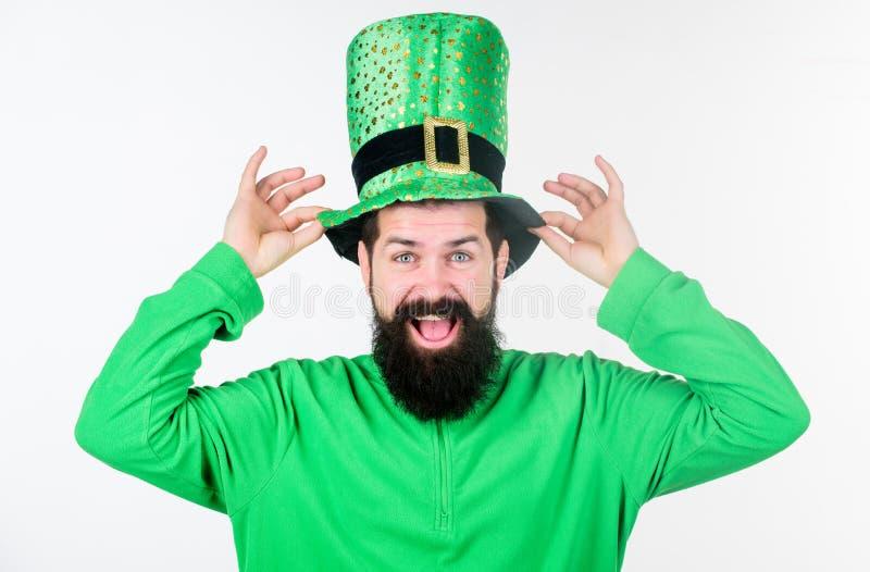 Festa di giorno di Patricks del san Parte di colore verde della celebrazione Mito del leprechaun Giorno felice di Patricks Pantal immagini stock