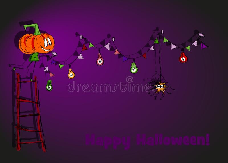 Festa di Halloween immagini stock
