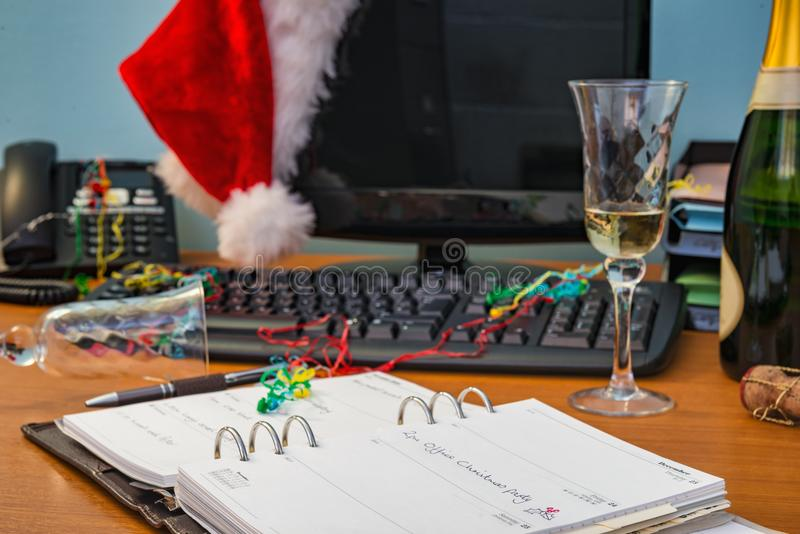 Festa di Natale dell'ufficio fotografia stock