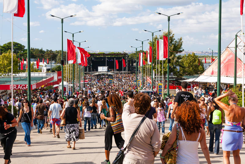 Festa do Avante Festival σε Quinta DA Atalaia στοκ φωτογραφίες