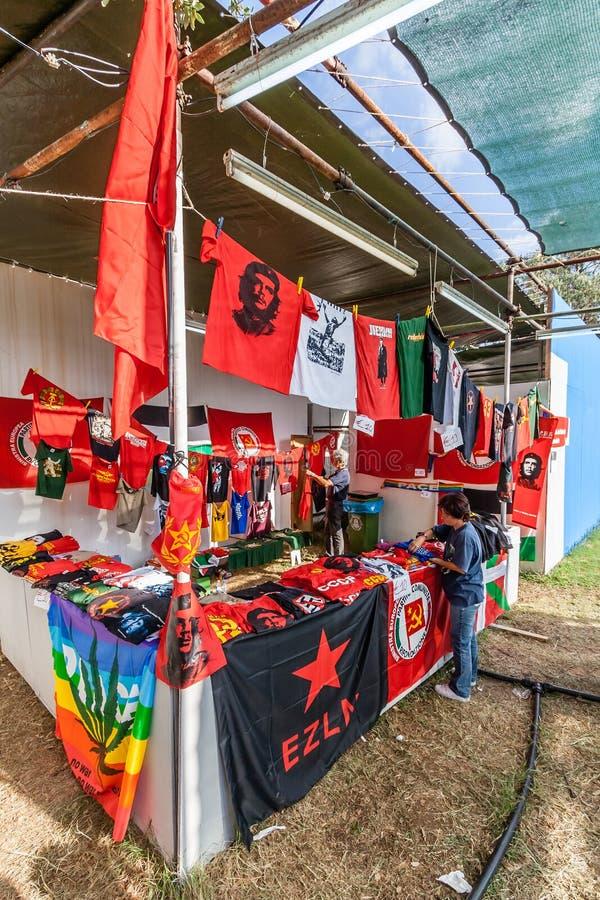 Festa do Avante festival, de belangrijkste politiek-Culturele gebeurtenis in Portugal stock afbeelding