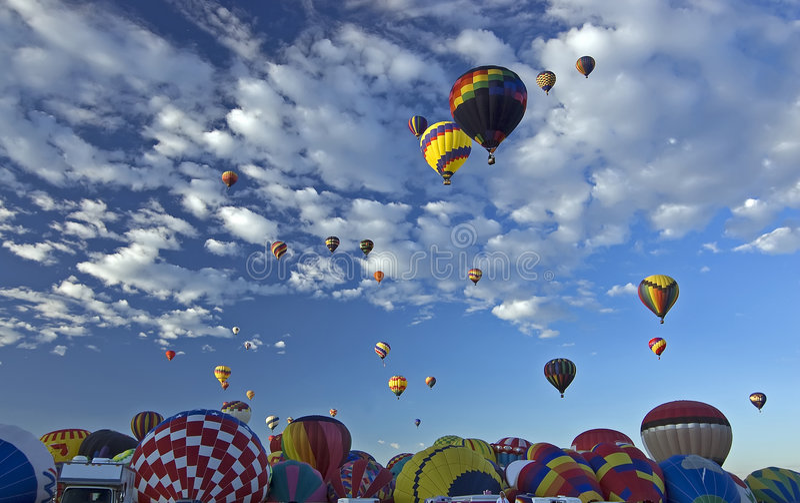 Festa do Ballon de Albuquerque fotografia de stock