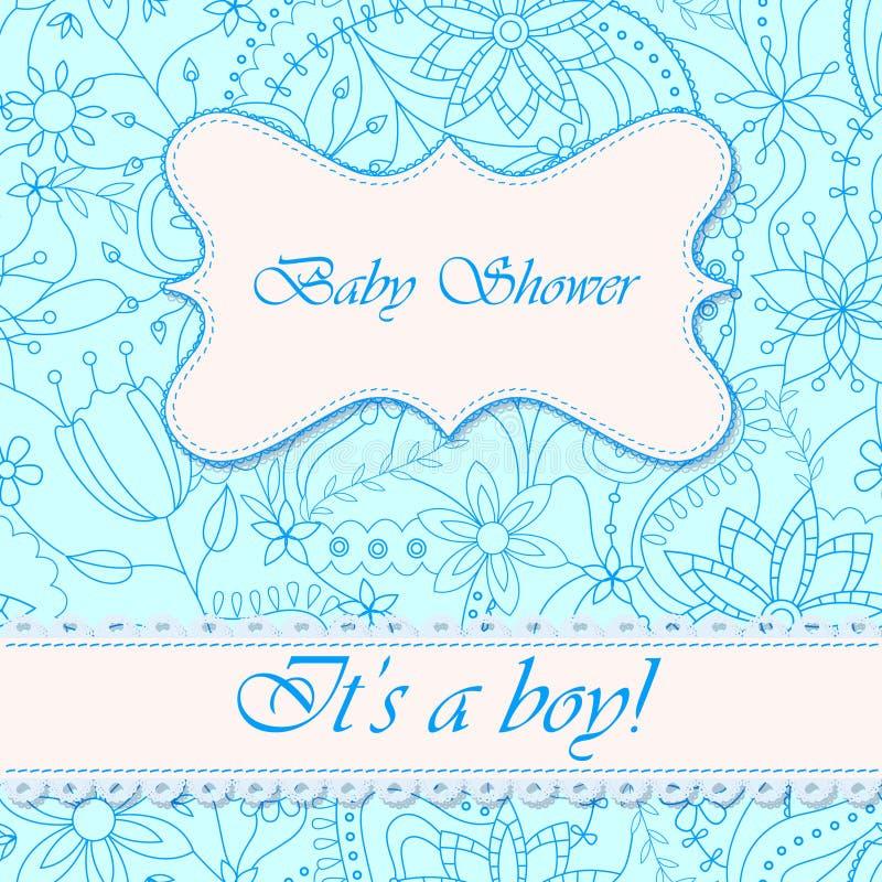 Festa do bebê com menino das flores ilustração royalty free
