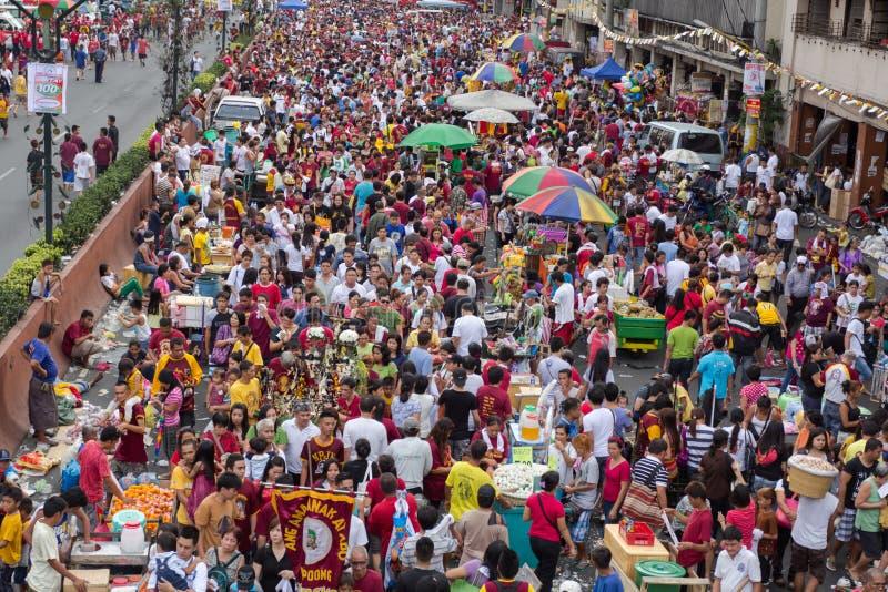 Festa do Nazarene preto em Manila, Filipinas fotografia de stock