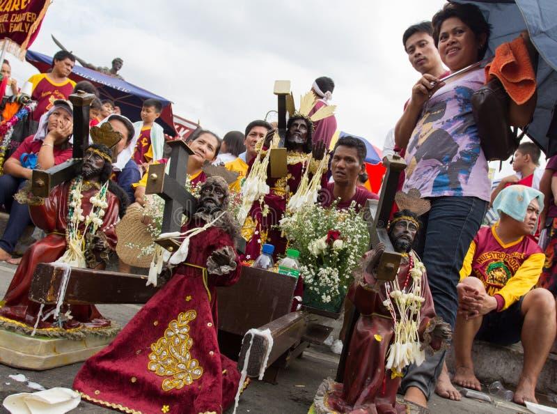 Festa do Nazarene preto em Manila, Filipinas imagem de stock royalty free