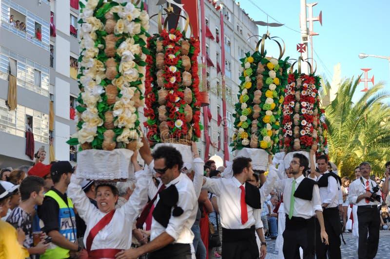 Festa DOS Tabuleiros - magasinfestival arkivbilder