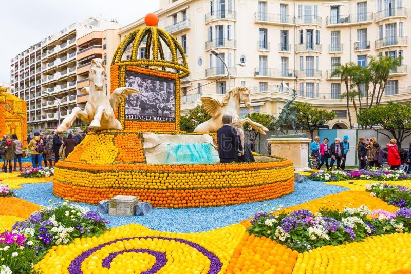 Festa du Cidra em Menton, França fotografia de stock