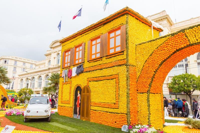 Festa du Cidra em Menton, França foto de stock royalty free
