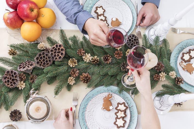 Festa e vinho do Natal imagem de stock royalty free